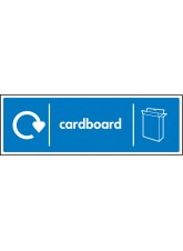 WRAP Recycling Sign - Cardboard