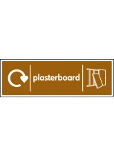 WRAP Recycling Sign - Plasterboard