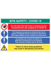 Coronavirus Site Safety Board with 4 Messages