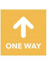 One Way - Arrow Up - Orange Floor Graphic